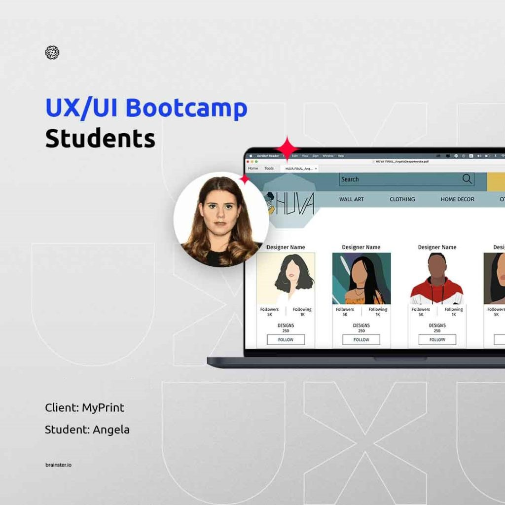 New project in the student's portfolio from the UX/UI Design Bootcamp