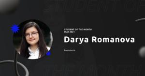 Meet Darya Romanova – Student of The Month   Brainster